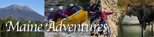Maine outdoor adventures and recreational vacation trips